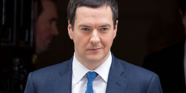 George Osborne, U.K. chancellor of the exchequer, reacts as he leaves 11 Downing Street in London, U.K.,...