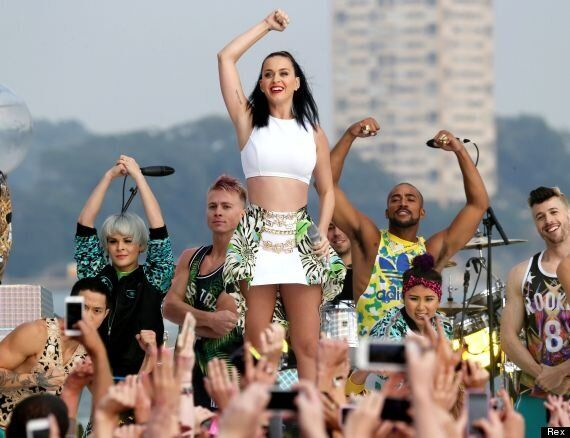 Katy Perry Suffers Pant-Flashing Wardrobe Malfunction As She Performs On Australian TV