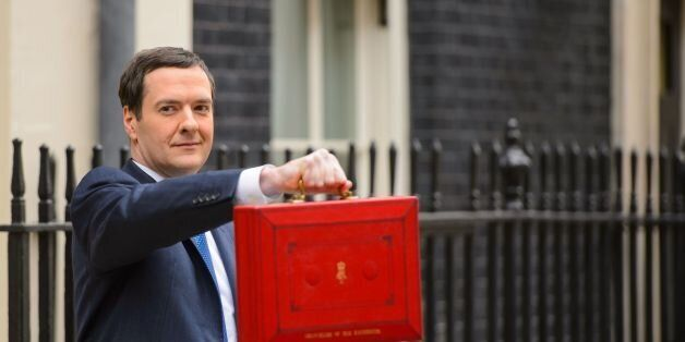 Chancellor of the Exchequer George Osborne outside 11 Downing Street before heading to the House of Commons...
