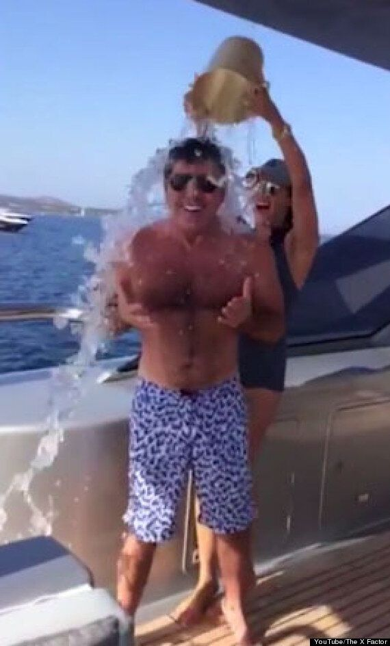 ALS Ice Bucket Challenge: Simon Cowell Takes The Plunge... And Nominates His Fellow 'X Factor' Judges...