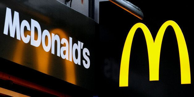 Embargoed to 1730 Thursday January 23 File photo dated 07/02/13 of the McDonald's logo as the fast food...