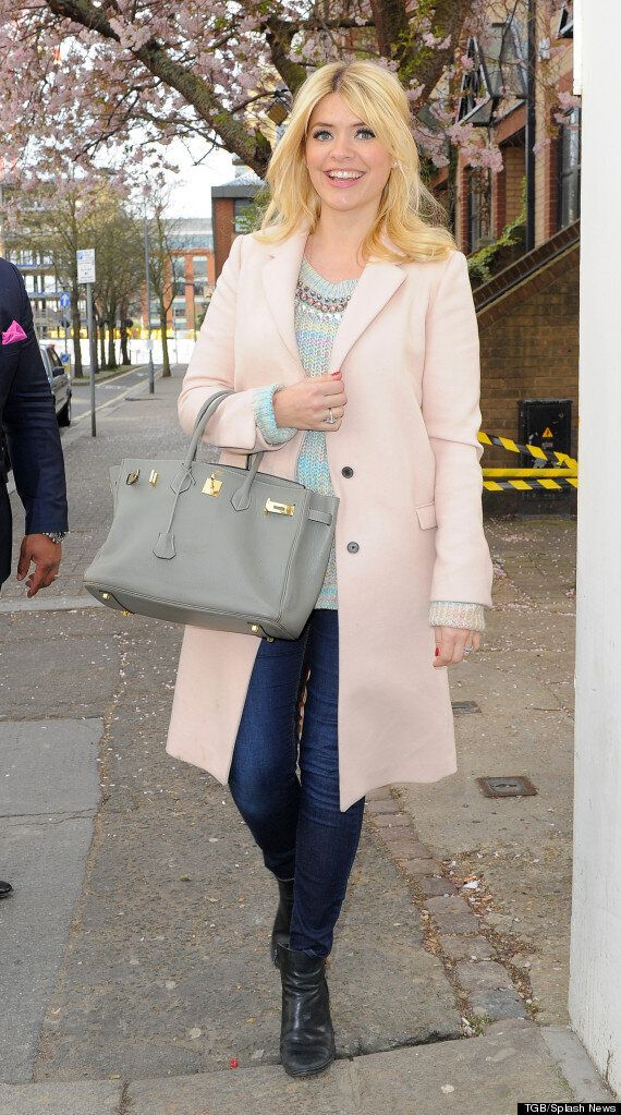 Pregnant Holly Willoughby Looks Glowing As She Arrives At 'Celebrity Juice' Filming