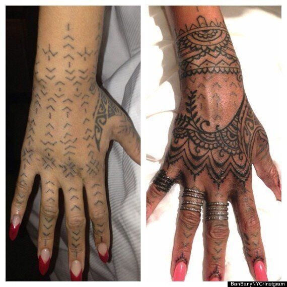 Rihanna Flies Tattoo Artists 1,500 Miles To Cover Up Tribal Hand Inking
