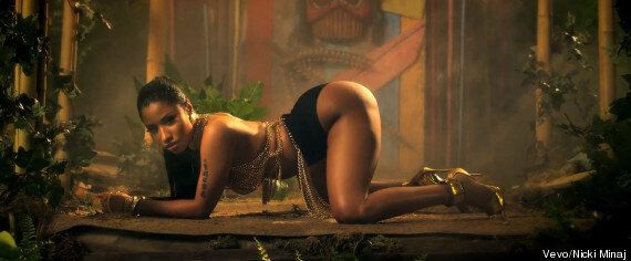 Nicki Minaj Anaconda Video: Rapper Twerks, Squirts Whipped Cream And Lap Dances Drake In NSFW Music Video......