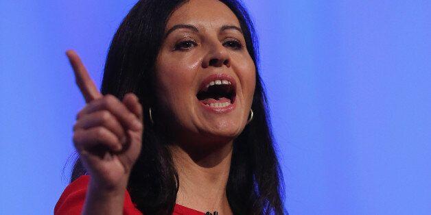 MANCHESTER, ENGLAND - OCTOBER 01: Shadow housing minister Caroline Flint addresses delegates the Labour...