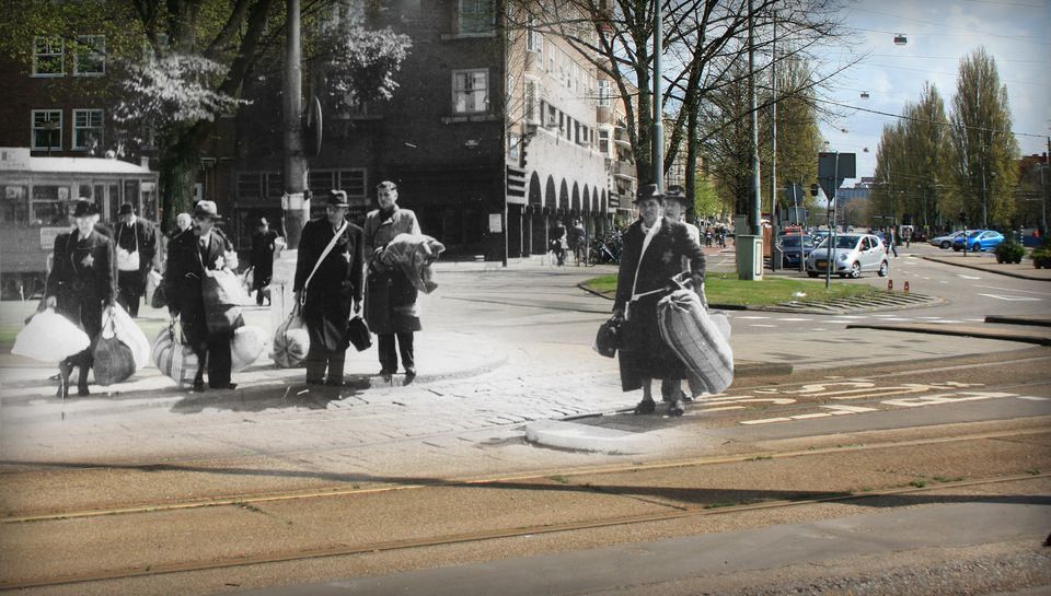 Anne Frank's Amsterdam: Nazi Occupation Of The Dutch Capital Contrasted With Images Of The Modern