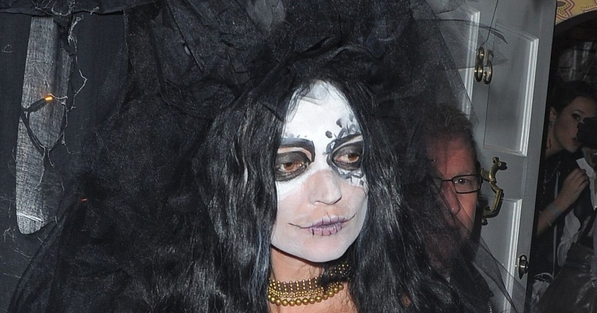 Nicole Scherzinger Halloween Costume.Jonathan Ross Halloween Party Holly Willoughby Kate Moss Nicole