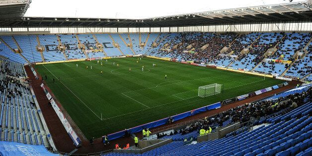 COVENTRY, ENGLAND - NOVEMBER 03: General view of action during the FA Cup With Budweiser 1st Round match...
