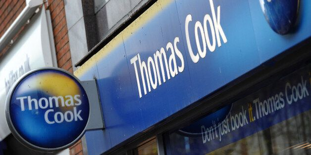 A branch of Thomas Cook is pictured in Birkenhead, in north-west England, on November 22, 2011. Shares...