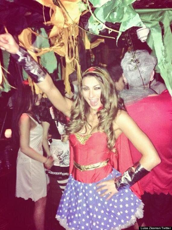 Luisa Zissman Transforms Into Wonder Woman For Halloween Club Night