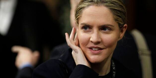Conservative MP Louise Mensch arrives at the Members' Lobby of the House of Commons in Westminster, London,...