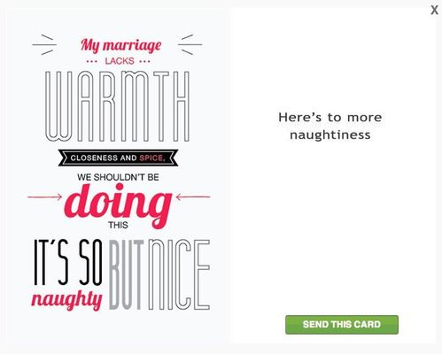 There Are Now Greeting Cards For Cheating Spouses  (Yes