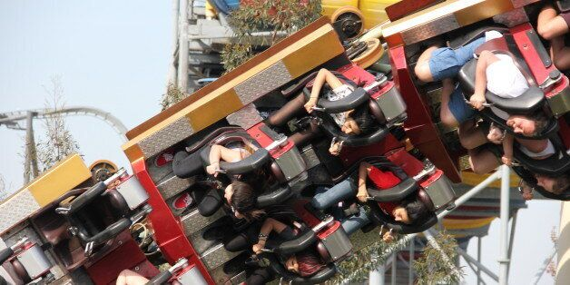 The Colossus at Thorpe Park - despite my hatred and terror, I actually queued for an hour and went on...