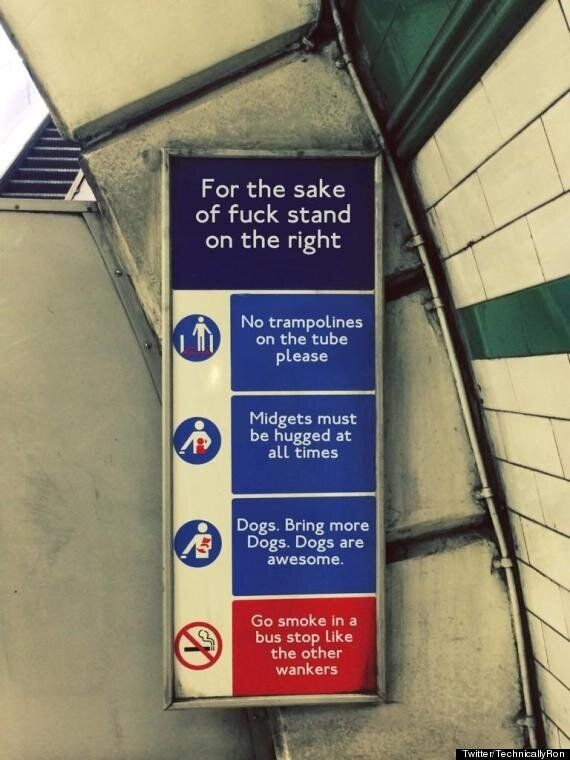 Interesting Sign Spotted On The London