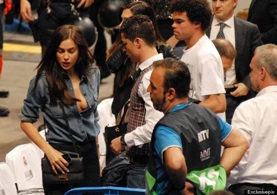 Cristiano Ronaldo Can't Keep His Eyes Off Model Girlfriend Irina Shayk At Basketball Game