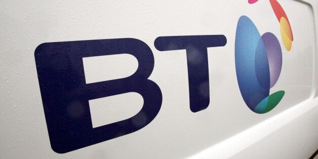 Undated file photo of a British Telecom van. BT claimed its Premier League offering was helping it win...