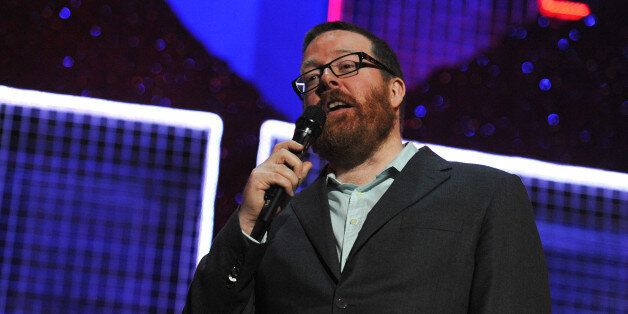 LONDON, ENGLAND - MARCH 06: Frankie Boyle performs onstage for 'Give It Up For Comic Relief' at Wembley...