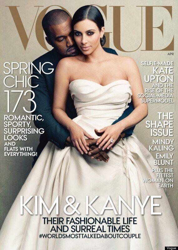 Kim Kardashian's Vogue Cover With Kanye West, Wearing Wedding Dress