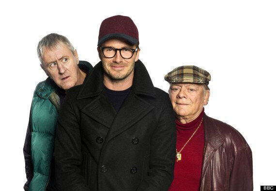 David Beckham Makes 'Only Fools And Horses' Debut In Sport Relief Sketch, Sells Underwear With Del Boy