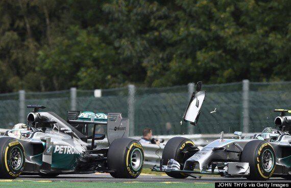 Lewis Hamilton Claims Nico Rosberg Hit Him On
