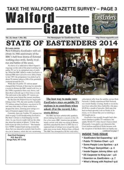 State of EastEnders 2014 From A Yank's Point of