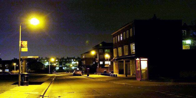 Saxon Avenue, Hounslow, west London, where police today, used a controversial new power to make it a...