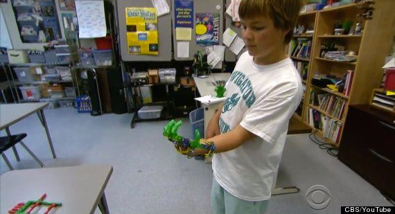 Dad Makes Son 3D-Printed Prosthetic Hand - Boy Totally Chuffed He's A Cyborg