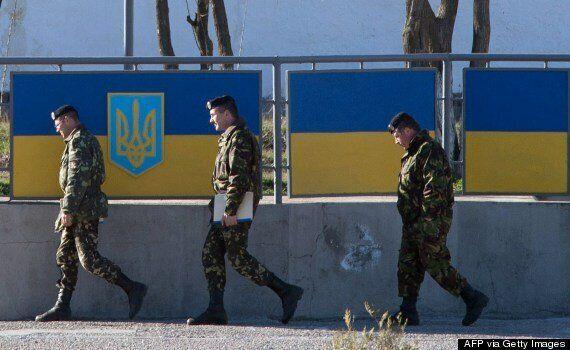 Ukrainians Taken Away With 'Hands Tied' After Russian Troops Storm Crimea Naval