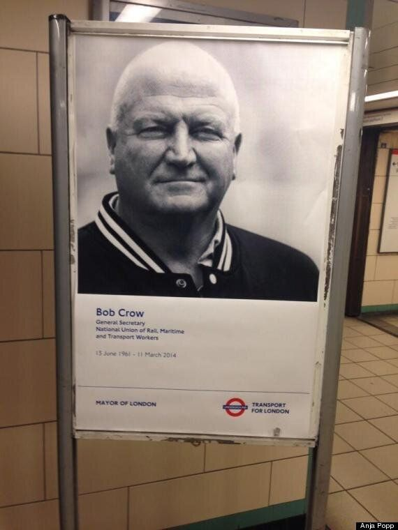 Bob Crow Remembered With Tube Station Posters As TfL Makes Surprising