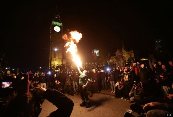 Russell Brand Leads UK's Anonymous Protest In Call For Revolution On Guy Fawkes