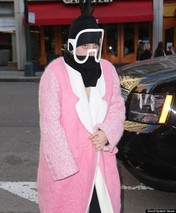 Lady Gaga Hits New York Channeling 'Marshmallow Chic' In Bright Pink Coat