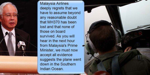 Missing Plane MH370: Malaysia Airlines Texted Family Members To Say Passengers Had Not