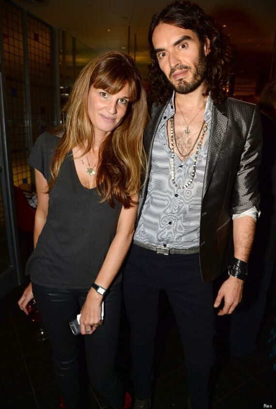 Russell Brand And Girlfriend Jemima Khan Pose Together At Documentary Screening In London