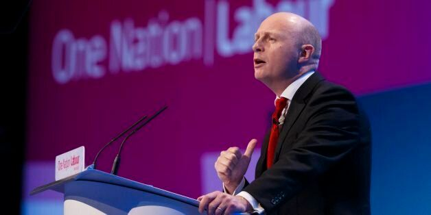 Shadow work and pensions secretary Liam Byrne speaking on the second day of the Labour Party Annual Conference...