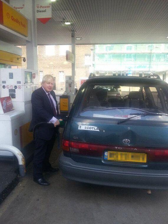 Boris Johnson 'I Love Scotland' Bumper Sticker Adorns His Battered