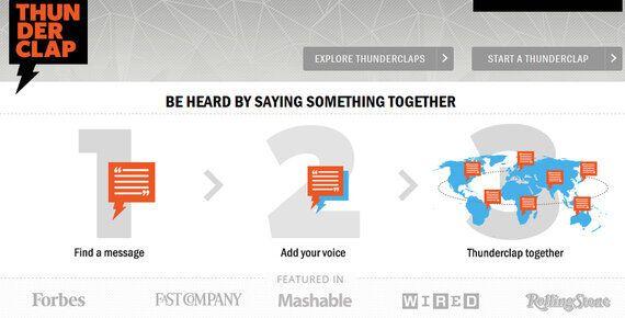 How New 'Crowdspeaking' Site Thunderclap Is Revolutionising Online Awareness
