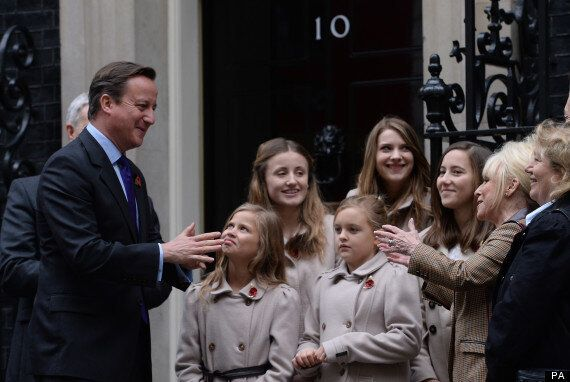 David Cameron Pictured Next To Disapproving Poppy