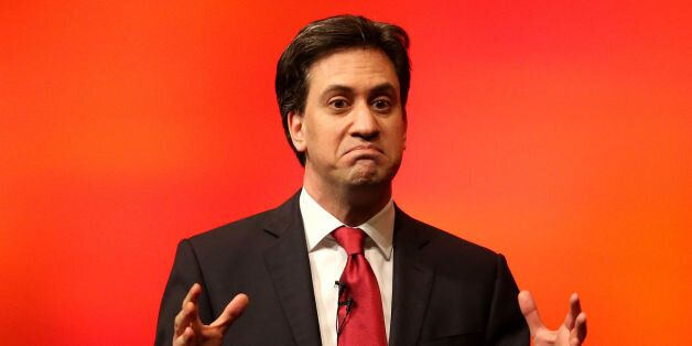Labour leader Ed Miliband during his speech at the Scottish Labour Party conference at the Perth Concert...