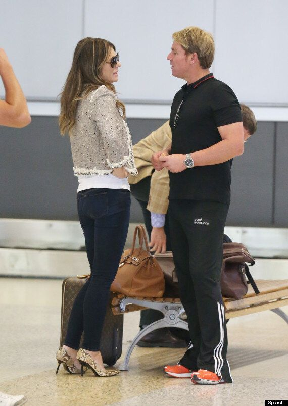 Elizabeth Hurley And Shane Warne Are Back On And Looking Loved-Up In Sydney