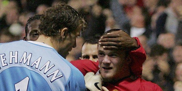 Jens Lehmann takes umbrage with Wayne Rooney scoring past him in