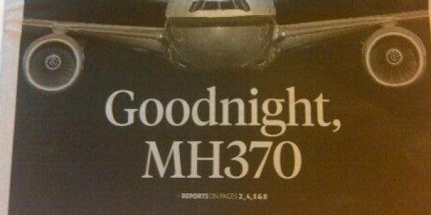 Missing Plane MH370: The Media Reacts To Malaysia Airlines Flight's Fate With Poignancy And Poor
