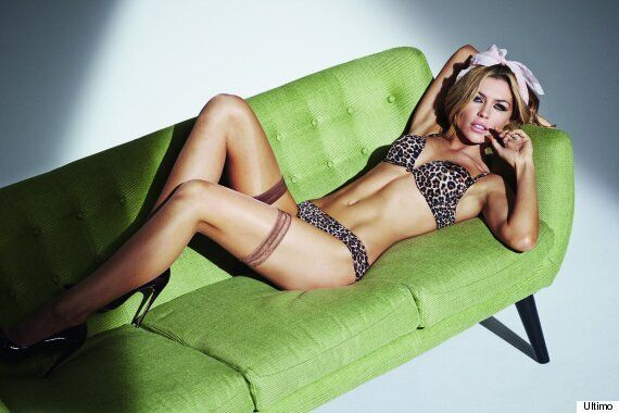 Abbey Clancy Shows Her Wild Side In Ultimo Lingerie Shoot