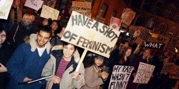 Students from Leeds campaigning against nightclub Tequila UK's sexist