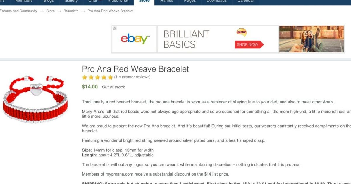Pro-Anorexia Sites Selling Merchandise, And Even Bracelets