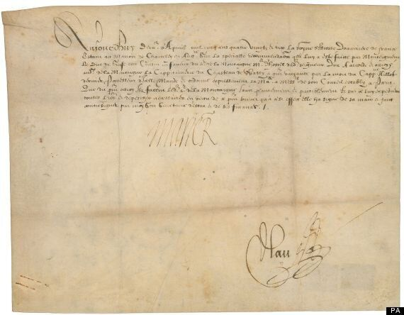 16th-Century Document Signed By Mary Queen Of Scots To Be