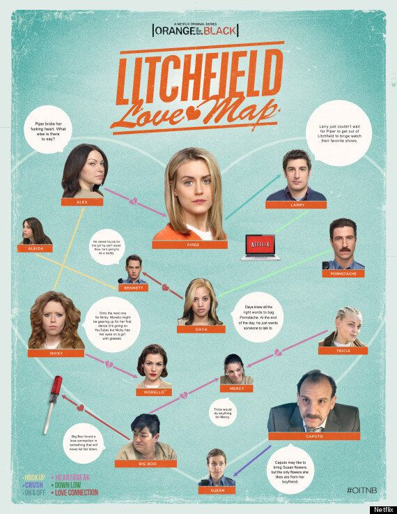 'Orange Is The New Black': Swot Up For Season 2 With Our Love Map Of Litchfield