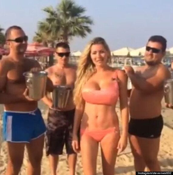 ALS Ice Bucket Challenge: Nicola McLean Nominates Woman Husband Tom Williams Allegedly Cheated With In...