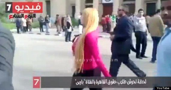 Video Of Blonde Woman Walking Through Cairo University Shows Shocking