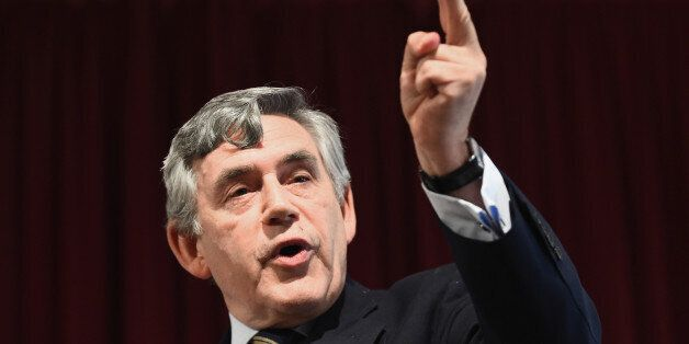 DUNDEE, SCOTLAND - AUGUST 27: Former Prime Minister Gordon Brown attends a Better Together rally on August...