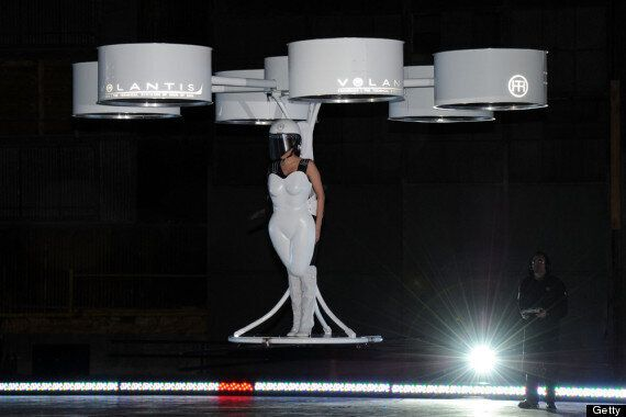 Lady Gaga Unveils Flying Dress At 'ARTPOP' Album Launch (PICTURES,